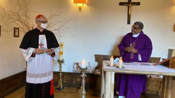 Cardinal Michael Czerny preaches at the Anglican Centre's Chapel of St.Augustine of Canterbury.