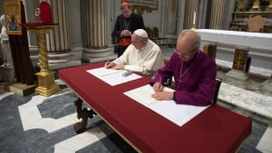 The Archbishop of Canterbury and His Holiness Pope Francis