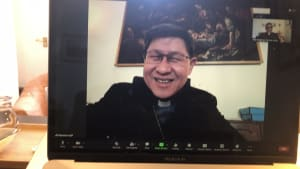 Archbishop Ian  Zoom meeting with His Eminence Cardinal Luis Tagle